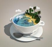 Lap grond & oceaan Stock Foto's