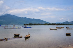 Lap An lagoon, Lang Co town, Hue, Vietnam. Royalty Free Stock Photography