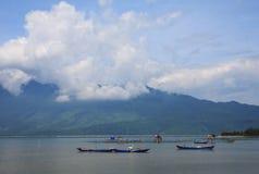 Lap An-Lagune, Lang Co-Stadt, Farbe, Vietnam Stockfotografie