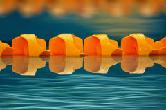 Lap Lane up close. A close up of the pool water and lap lane Royalty Free Stock Images