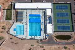 Lap Pools & Tennis Royalty Free Stock Photo