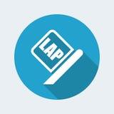 Lap race icon. Vector illustration of single isolated lap race icon vector illustration