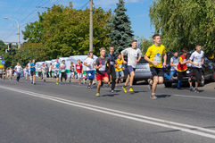 Lap for Schoolboys  in Run for Life competition during City Day local activity Royalty Free Stock Photography
