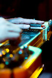 Lap steel guitar stock image