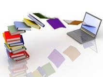 lap-top βιβλίων διανυσματική απεικόνιση