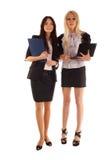 lap-top δύο επιχειρηματιών συμβ& Στοκ Εικόνα
