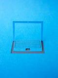 Lap-top εγγράφου Στοκ εικόνα με δικαίωμα ελεύθερης χρήσης