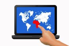 lap-top εκμετάλλευσης χεριών Στοκ εικόνες με δικαίωμα ελεύθερης χρήσης