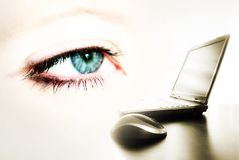 lap-top ματιών στοκ εικόνες