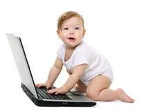lap-top μωρών μικρό Στοκ εικόνες με δικαίωμα ελεύθερης χρήσης