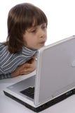 lap-top παιδιών Στοκ Φωτογραφία