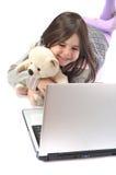 lap-top παιδιών Στοκ Φωτογραφίες