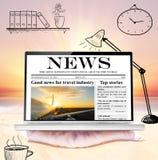 lap-top παραλιών Στοκ εικόνα με δικαίωμα ελεύθερης χρήσης