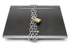 lap-top που κλειδώνεται Στοκ εικόνα με δικαίωμα ελεύθερης χρήσης