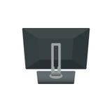 Lap-top σημειωματάριων οργάνων ελέγχου υπολογιστών, τηλεοπτική πίσω πλευρά Διανυσματική απεικόνιση εικονιδίων Στην άσπρη ανασκόπη Στοκ φωτογραφία με δικαίωμα ελεύθερης χρήσης