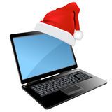 lap-top σχεδίου Χριστουγέννων απεικόνιση αποθεμάτων