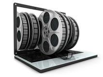 lap-top ταινιών Στοκ Εικόνες
