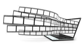 lap-top ταινιών Στοκ εικόνα με δικαίωμα ελεύθερης χρήσης