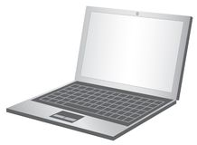 Lap top. Realistic lap top vector illustration on white background royalty free illustration
