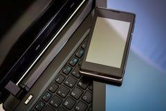 Lap-top, PC ταμπλετών & έξυπνο τηλέφωνο Στοκ εικόνες με δικαίωμα ελεύθερης χρήσης