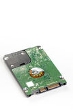 Lap top sata hard disc isolated over white background with copy space.  stock photography