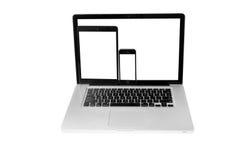 Lap-top, smartphone και Στοκ εικόνα με δικαίωμα ελεύθερης χρήσης