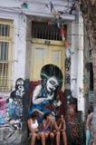 Lapa,巴西-街道场面 图库摄影