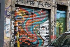 Lapa,巴西-街道场面 免版税库存图片