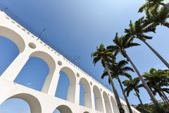 Lapa Arch and Palm Trees Royalty Free Stock Image
