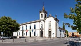 Lapa Chapel - a Sacred Art Museum right, and the Lusiada Unive. Vila Nova de Famalicao, Portugal - September 06, 2017: Lapa Chapel - a Sacred Art Museum right stock photography