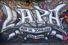 Lapa gata Art Mural, Rio de Janeiro, Brasilien arkivfoton