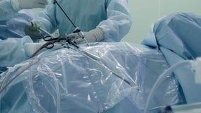 Laparoscopic kirurgi av magen Arkivfoto