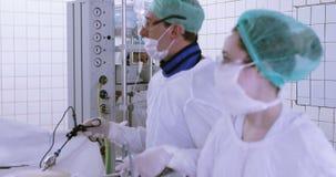 Laparoscopic surgery of the abdomen. stock video