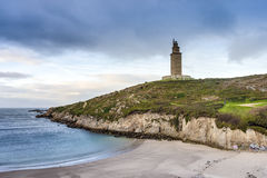 Lapas Beach in A Coruna, Galicia, Spain. Royalty Free Stock Photos