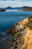 Lapataia fjärd i Tierra del Fuego Arkivbilder