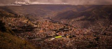 LaPaz Bolivia Downtown foto av den historiska huvudstaden Royaltyfri Fotografi