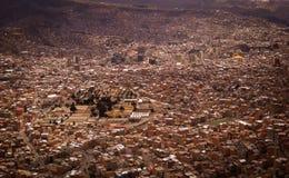 LaPaz Bolivia Downtown foto av den historiska huvudstaden Arkivfoton
