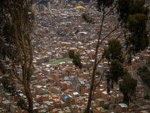 LaPaz Bolivia Downtown foto av den historiska huvudstaden Royaltyfri Foto