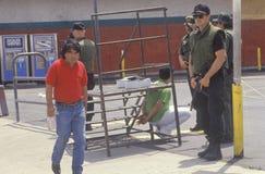 LAPD принимая человека в опёка Стоковые Изображения RF