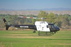 LAPD -作为350个B2的Eurocopter 图库摄影