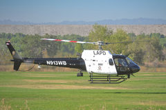 LAPD - Eurocopter AS 350 B2. LOS ANGELES, CA. - JUNE 30:  - American Heroes Air Show on June 30, 2012 in Los Angeles CA at the Hansen Dam Sports Complex Stock Photography