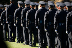 LAPD Graduates line up #3 Royalty Free Stock Image