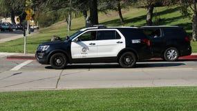 LAPD-medel på Griffith Park, Hollywood Hills, Los Angeles, Kalifornien Royaltyfria Foton