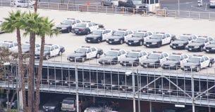LAPD parking samochodowy Zdjęcia Stock
