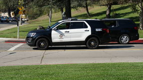LAPD Vehicle at Griffith Park, Hollywood Hills, Los Angeles, California Royalty Free Stock Photos
