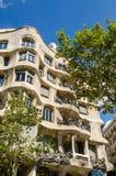 LaPedrera byggnad i Barcelona Arkivfoton