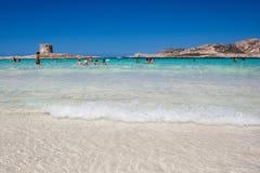 LaPelosa strand på ön Sardinia Royaltyfria Foton