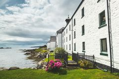 Free Laphroaig Distillery Buildings On Scottish Shore. Royalty Free Stock Images - 139723259