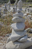 Lapida i materiali illustrativi nell'equilibrio armonioso immagini stock