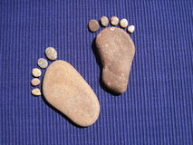 Lapida il piede Fotografie Stock Libere da Diritti